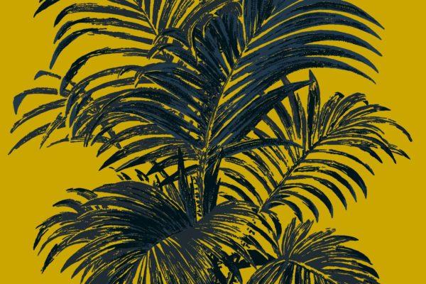 Palm, Mustard, Florence Broadhurst fabric
