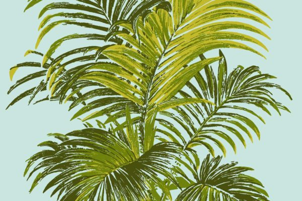 Palm, Olive Springs, Florence Broadhurst fabric