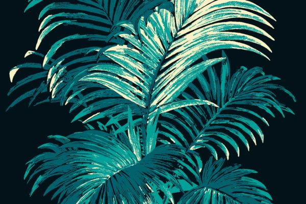 Palm, Teal, Florence Broadhurst fabric
