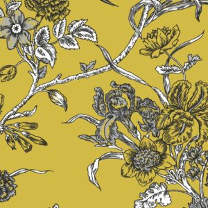 Carnation, dijon, Florence Broadhurst fabric