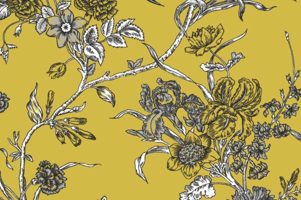 Carnation, dijon, Florence Broadhurst fabric