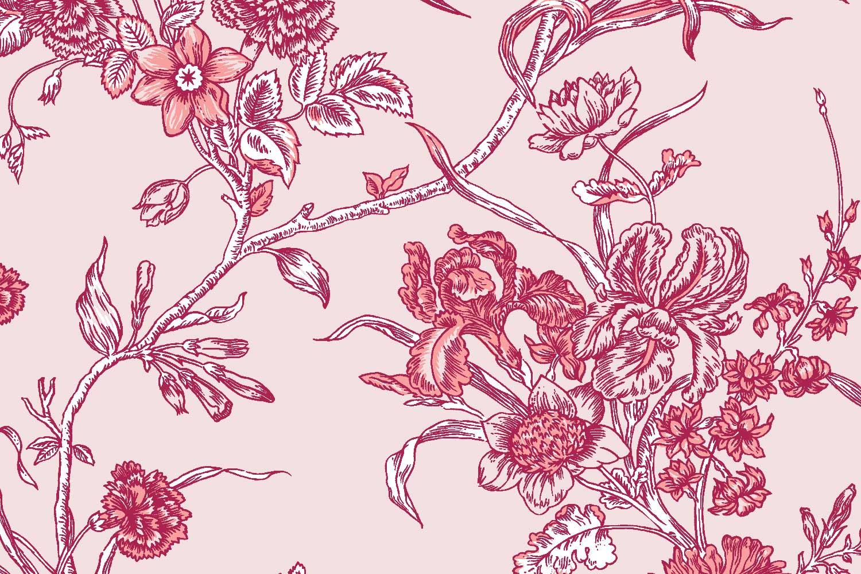 Carnation in Fiesta, Florence Broadhurst Fabrics