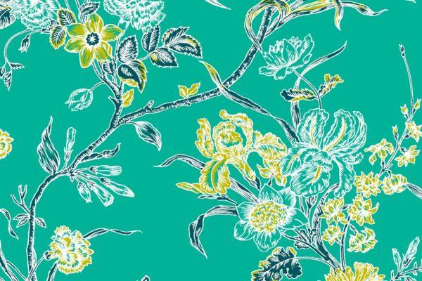 Carnation, fresh, Florence Broadhurst fabric