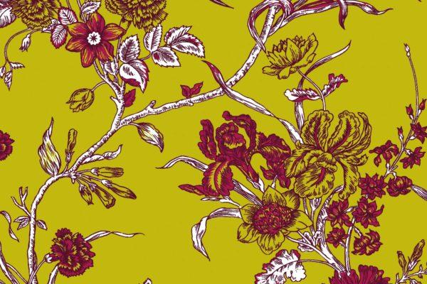 Carnation, heritage, Florence Broadhurst fabric
