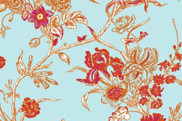 Carnation, summer, Florence Broadhurst fabric