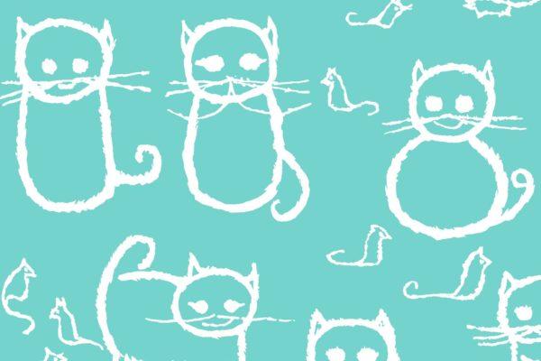 Cats, waves, Florence Broadhurst fabric, kids fabrics