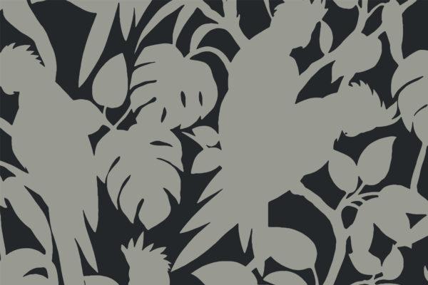 Cockatoos, pepper, Florence Broadhurst fabric
