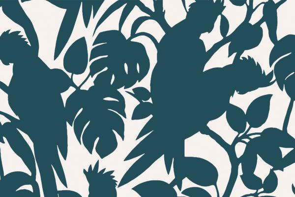 Cockatoos, seaside, Florence Broadhurst fabric