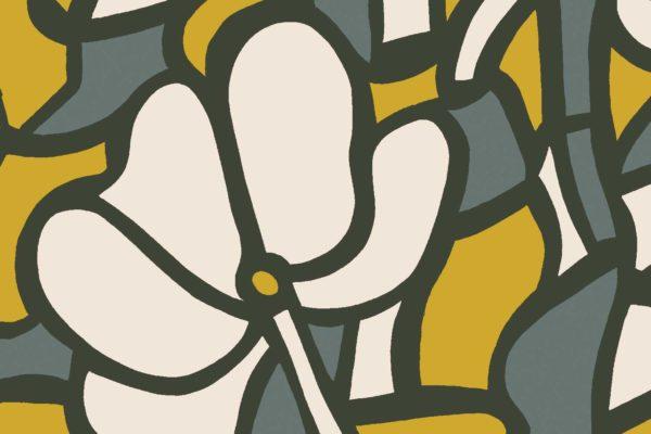 Stained Glass, botanica, Florence Broadhurst fabric