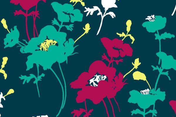 Floral 300, dancer, Florence Broadhurst fabrics