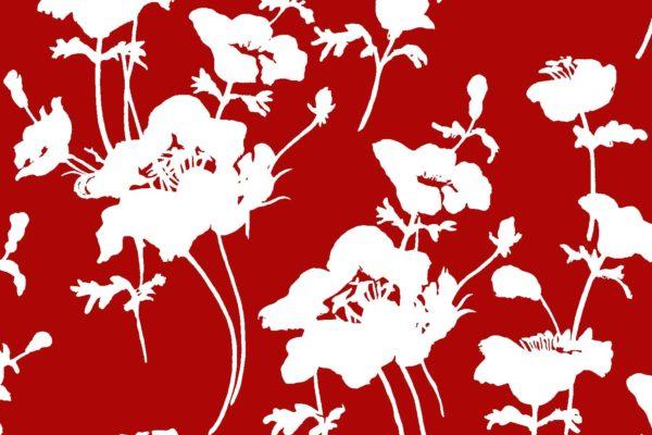Floral 300, lipstick, Florence Broadhurst fabrics