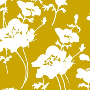 Floral 300, ochre, Florence Broadhurst fabrics