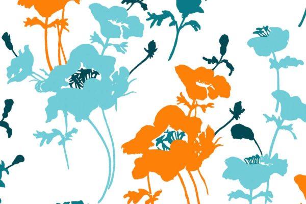 Floral 300, pop, Florence Broadhurst fabrics