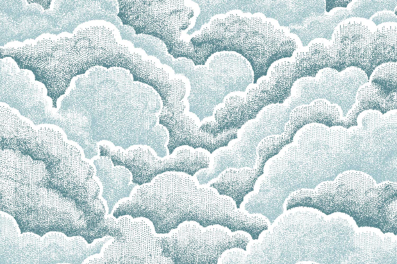 Halftone Clouds fabric, Florence Broadhurst Fabrics
