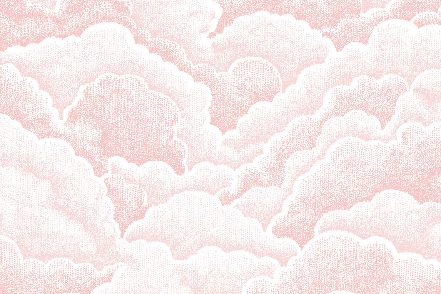 Halftone Clouds in Rose, Florence Broadhurst Fabrics