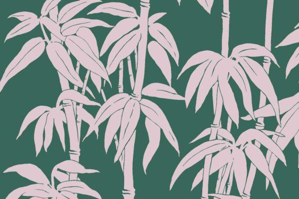 Japanese Bamboo, pink safari, Florence Broadhurst fabric