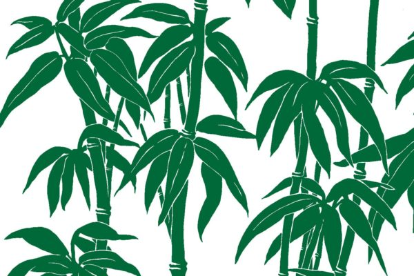 Japanese Bamboo, jungle, Florence Broadhurst fabric