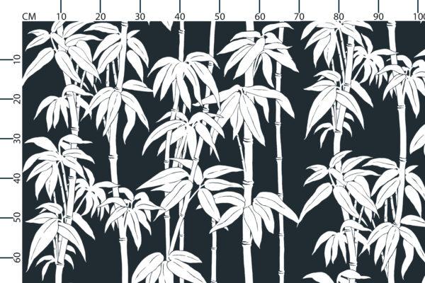 Japanese Bamboo fabric design scale, centimetres