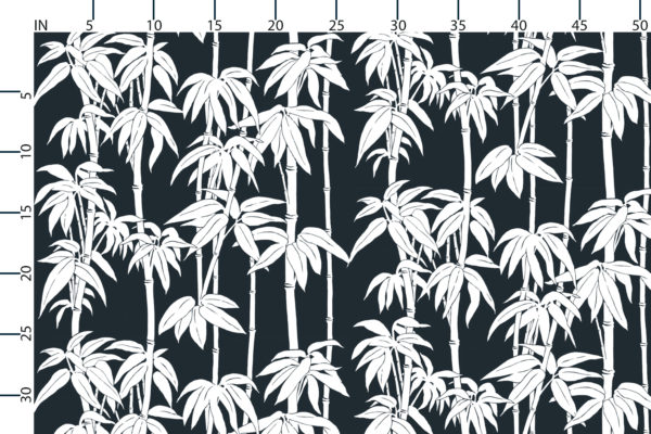Japanese Bamboo fabric design scale, inches