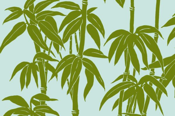 Japanese Bamboo, spring, Florence Broadhurst fabric