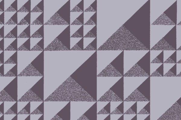 Pyramids, lightning, Florence Broadhurst fabric