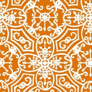 Spanish Plate, burnt ginger, Florence Broadhurst fabric
