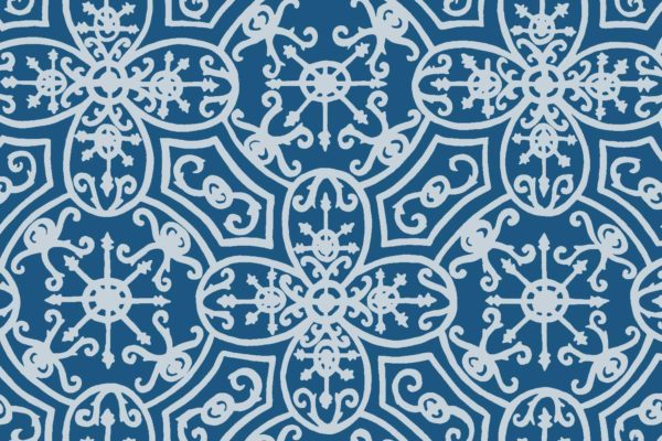 Spanish Plate, cornflower, Florence Broadhurst fabric