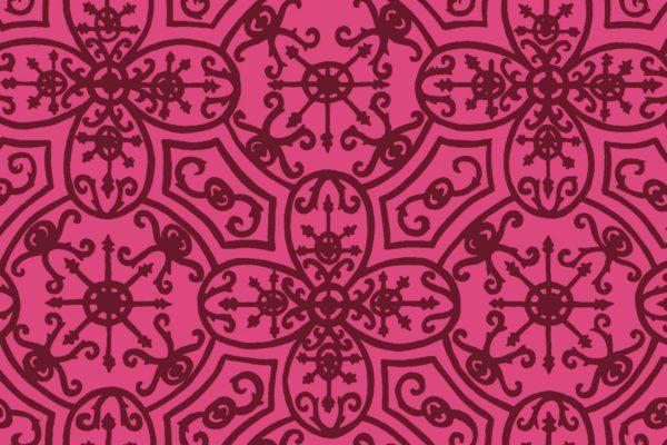 Spanish Plate, merlot, Florence Broadhurst fabric