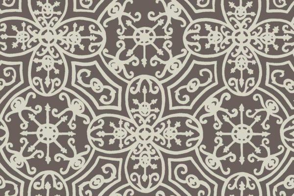 Spanish Plate, pavement, Florence Broadhurst fabric