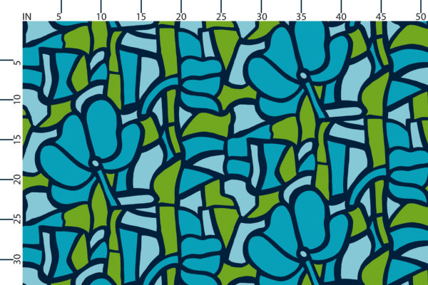 Stained Glass fabric design scale, inches