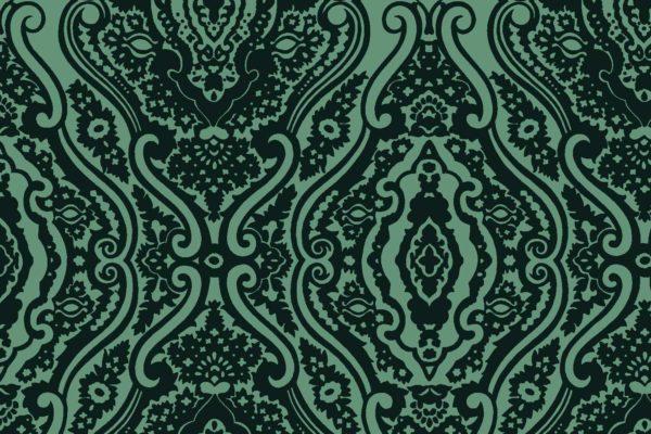 Wishbone Tapestry, pine, Florence Broadhurst fabric