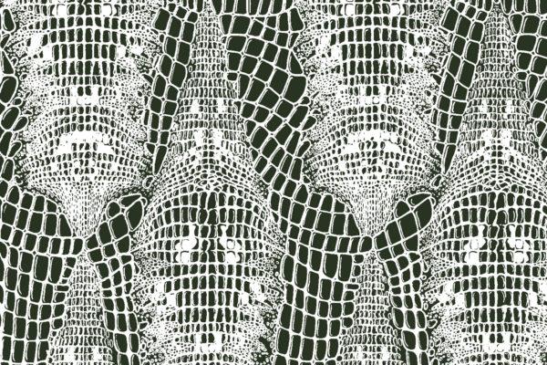 Crocodile fabric, Camo, Florence Broadhurst Fabrics