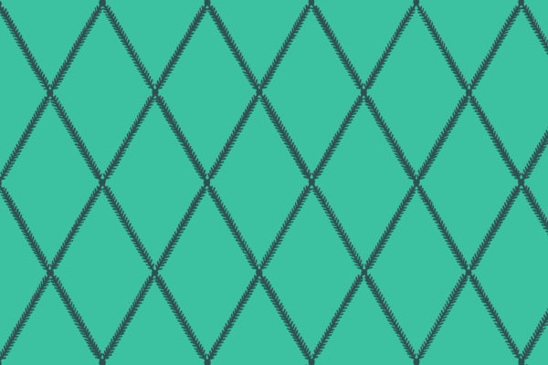 Lattice Leaf, Aqua, Florence Broadhurst Fabrics