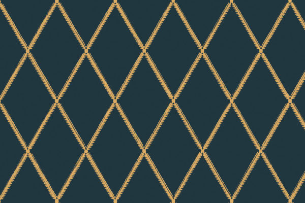 Lattice Leaf, Blue Dijon, Florence Broadhurst Fabrics