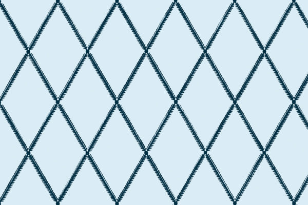 Lattice Leaf, Denim, Florence Broadhurst Fabrics