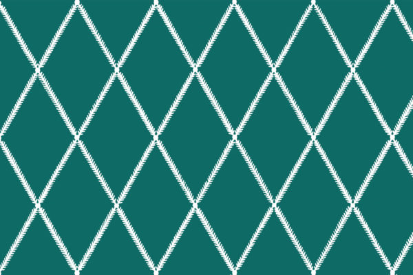 Lattice Leaf, Green Slate, Florence Broadhurst Fabrics