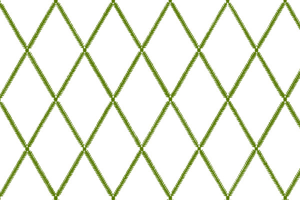 Lattice Leaf, Lime, Florence Broadhurst Fabrics