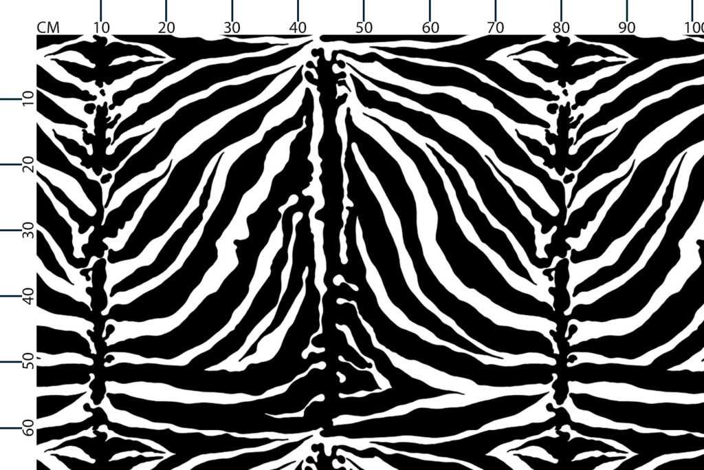 Tiger stripe fabric, scale in centimetres