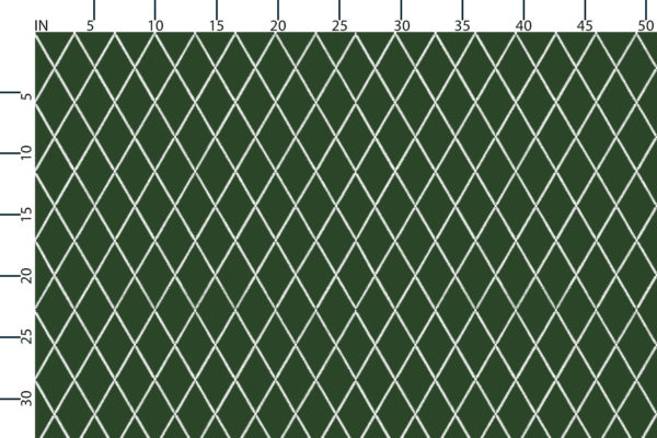 Lattice Leaf, scale in inches