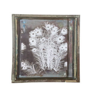 Florence Broadhurst Silkscreen, Peacock Feathers design