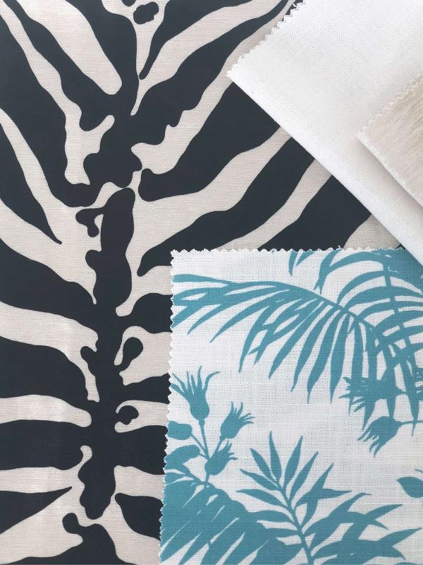 Florence Broadhurst fabrics, upholstery, Heatherly