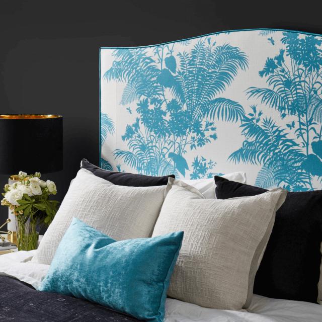Shadow Floral bedhead, Florence Broadhurst Fabrics, Heatherly Design