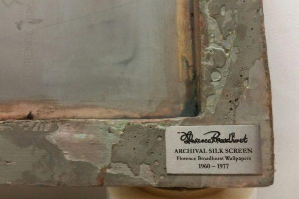 Florence Broadhurst silkscreen art, plaque