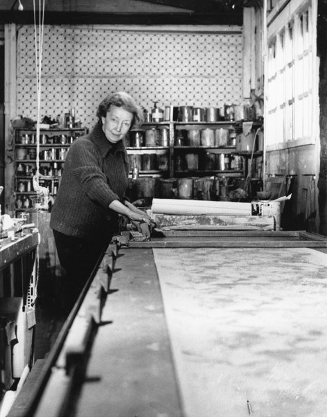 Florence Broadhurst with silkscreen