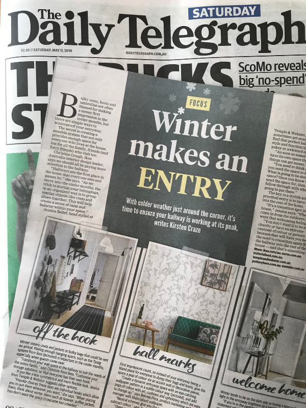 Daily Telegraph entryway story