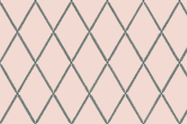 Lattice Leaf, Blush, Florence Broadhurst Fabrics