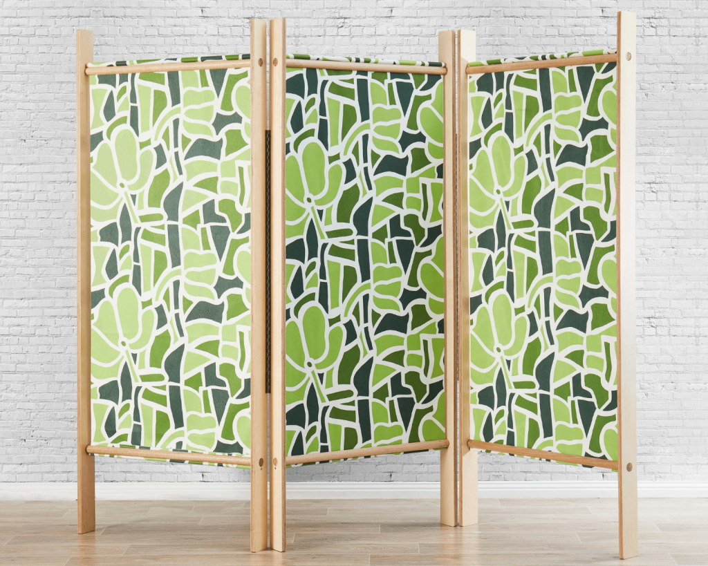 Room divider, Stained Glass, lime