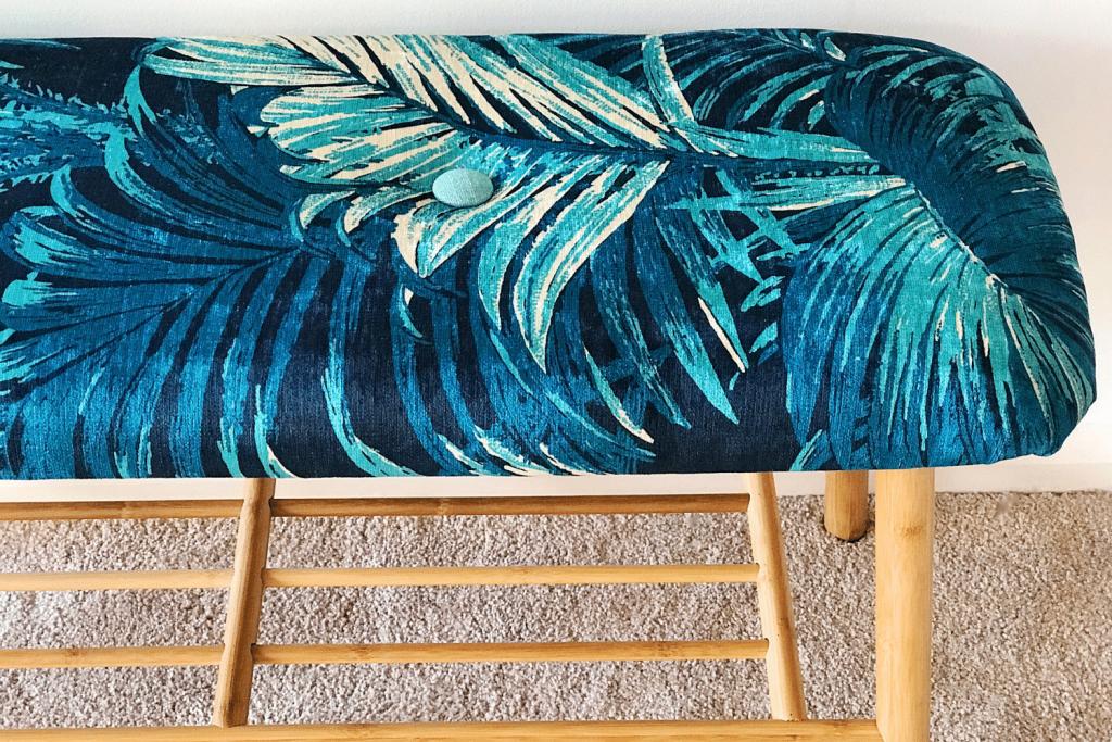 upholstered bench seat, Florence Broadhurst Fabrics
