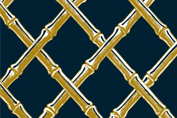 Bamboo Lattice Navy, Textiles