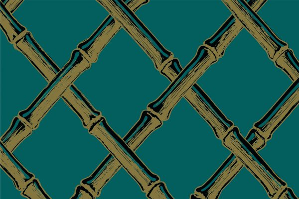 Bamboo Lattice Seaweed, Textiles